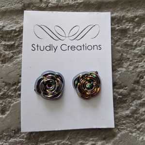 Studly Creations - rose earrings